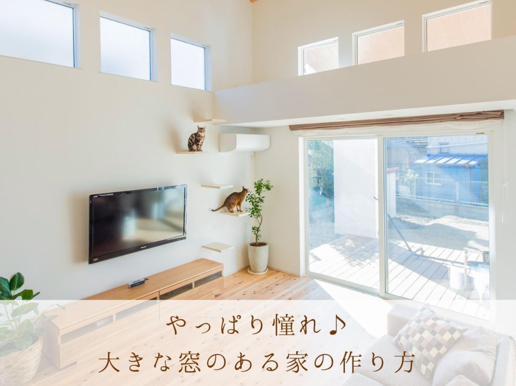 大きな窓はやっぱり憧れ♪ 大開口の窓を作る際のポイントとは?